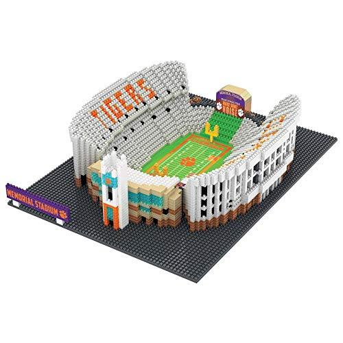 FOCO NCAA Clemson Tigers 3D Brxlz Stadium Building Block Set3D Brxlz Stadium Building Block Set, Team Color, One Size ()