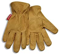 Kinco 94C Child's Grain Pigskin Leather Driver Glove, Work, Golden (Pack of 12 Pairs)