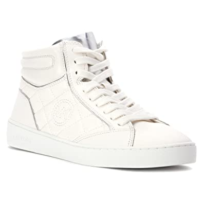 Amazon.com | MICHAEL Michael Kors Womens Paige Leather Fashion ... : michael kors quilted sneakers - Adamdwight.com