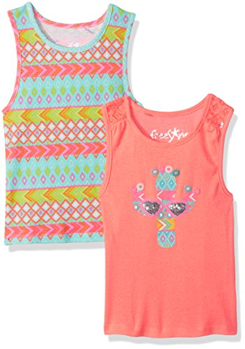 Little Girl Tank Top (Freestyle Revolution Little Girls' 2pk Cactus/Western Sequence Tanks Set, Multi, 5)