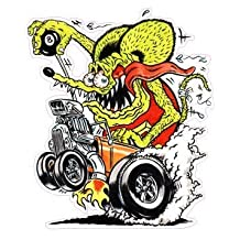Rat Fink Coupe Decal 5""