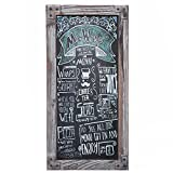 Torched Wood Vertical Frame Chalkboard, Wall Mount Erasable Message Board, MyGift