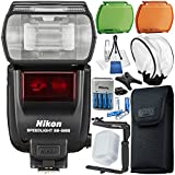 Nikon SB-5000 AF Speedlight - 11PC Accessory Bundle Includes Battery Charger + 8x Rechargeable Batteries + Soft Flash Diffuser + 180° Flash Bracket & Starter Kit