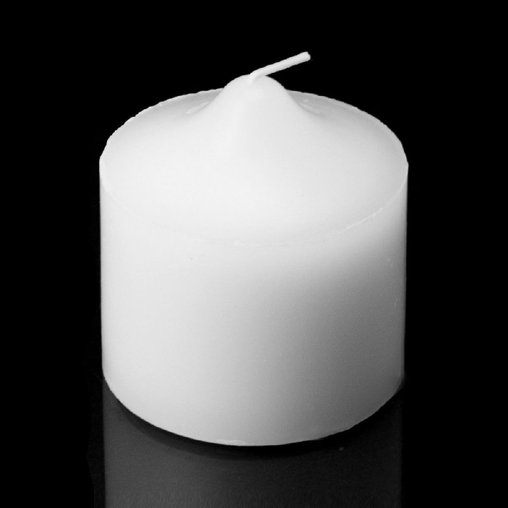 Set Of 96 White Unscented 3'' X 3'' Pillar Candles Weddings Events Home Decor