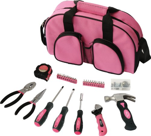 Apollo Precision Tools DT0423P Household Tool Kit, Pink, 69-Piece, Donation Made to Breast Cancer Research (Basic Electrical Tool Kit)