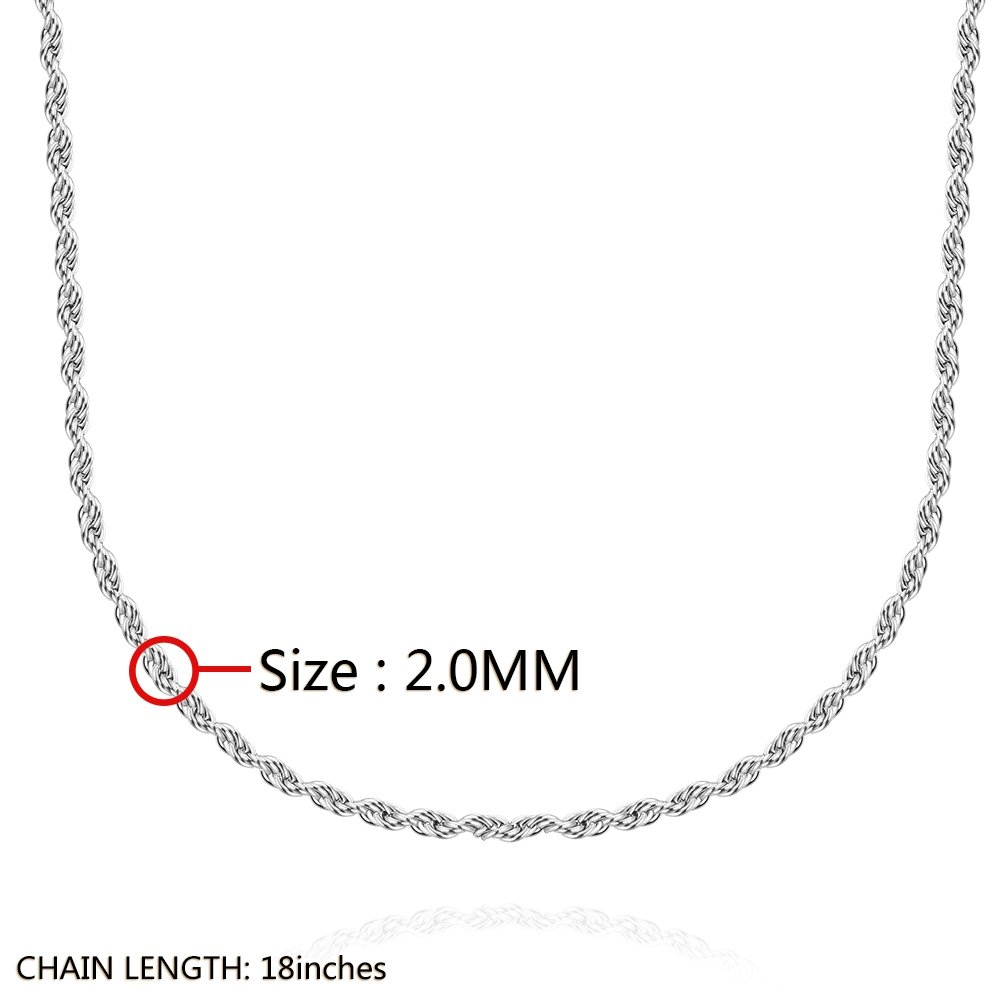 KopooaP Stainless Steel Necklaces Pendant Jewelry Birthday Gifts Presents for Unisex