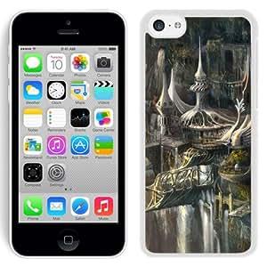 Beautiful And Unique Designed With Castle Cliffs Bridges Waterfalls Birds (2) For iPhone 5C Phone Case