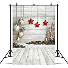 SJOLOON 5X7ft Christmas Balls White Wood Floor Photography Backdrop Fabric Photo Backdrops Customized Studio Background JLT10383