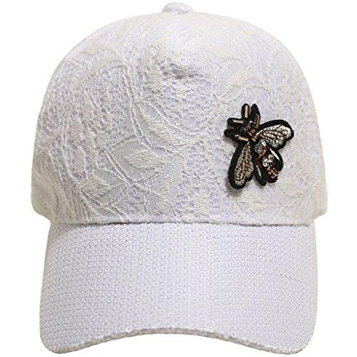 Fresh Sol Trend Béisbol Hembra Beach Blanco Gorra Sombrero De Lace Summer Sweet Cute Cjh Cap xqfIw4