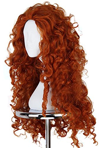 Ace Halloween Adult Women's Brave Merida Wigs Costumes (Brave Adult Costume)