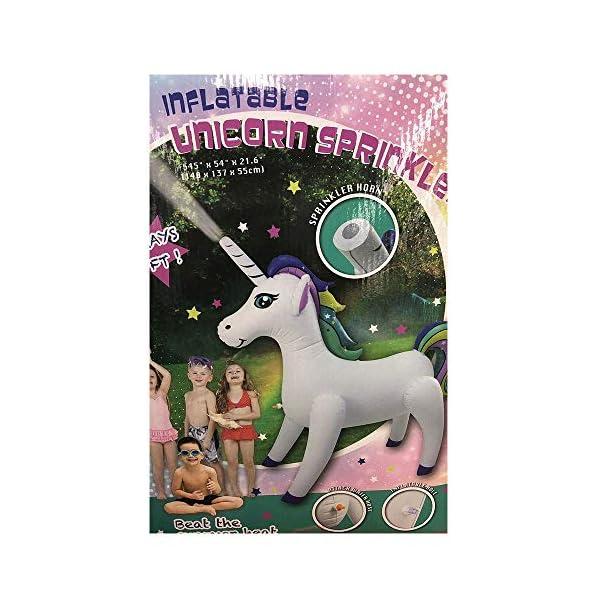 Inflatable Giant Unicorn Sprinkler for Kids - 4.5 Feet Tall 3