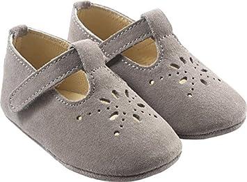 1a9e6f0338d88 Tichoups Chaussures bébé cuir souple Salomé grises 16/17: Amazon.fr ...