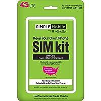 Simple Mobile Mantenga su propio teléfono Kit de prepago 3 en 1 SIM