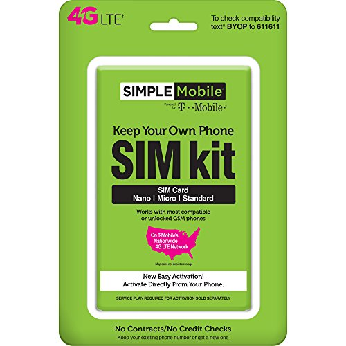 Simple Mobile Keep Your Own Phone 3-in-1 Prepaid SIM for sale  Delivered anywhere in USA