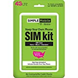 Simple Mobile Keep Your Own Phone SIM Kit with 2nd Month FREE on 25 or above 30-day Plans