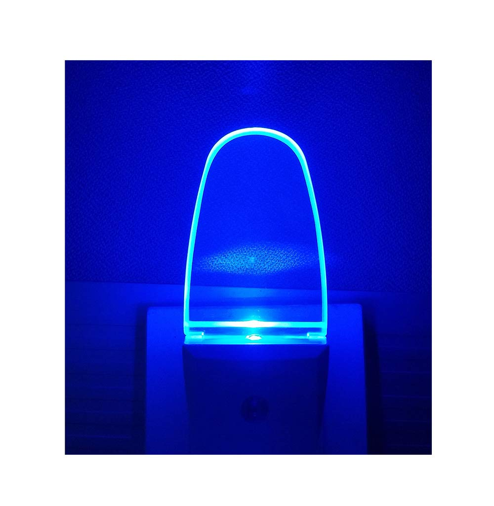 4 Pack Night Light Lamp with Dusk to Dawn Sensor, Plug in, Blue Led Night Light