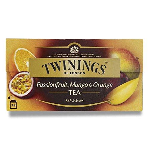 Twinings Passionfruit, Mango and Orange Tea (International Blend) 50g - 25 Envelopes (Pack of 4)