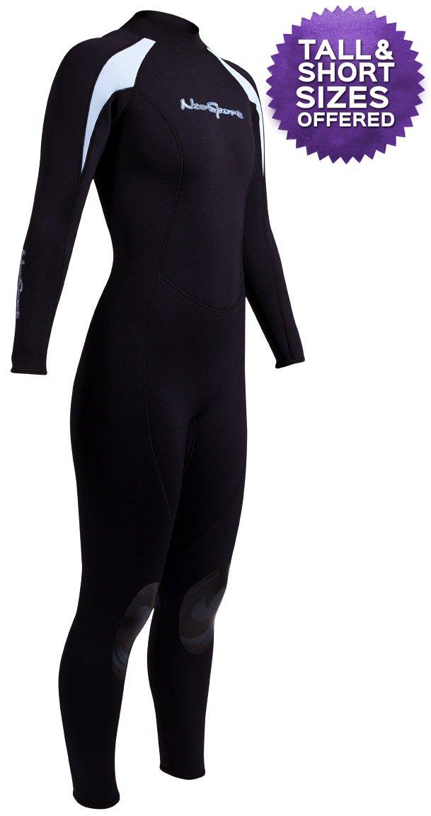 NeoSport XSPAN Women 's 3 /2 mm Full Wetsuitブラック/ブルー – 8 B010D4IFNQ