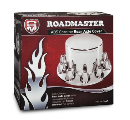 Roadmaster 344P ABS Chrome Rear Wheel Axle Removable Hub Cap and Threaded Nut Covers