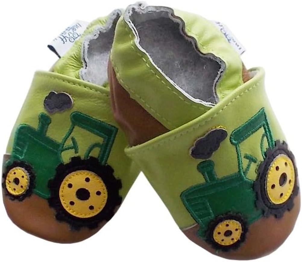 22 Echtleder NEU Leder Schuhe Puschen Hausschuhe Größe 12-18 Monate Gr 21