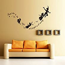 Sotijobs Tinkerbell second star to the right Peter pan wall decal sticker kids art mural