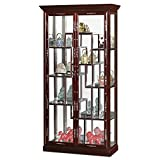 Product review for China Furniture Online Rosewood Curio Cabinet, Mother Pearl Inlay Display Cabinet Cherry Finish