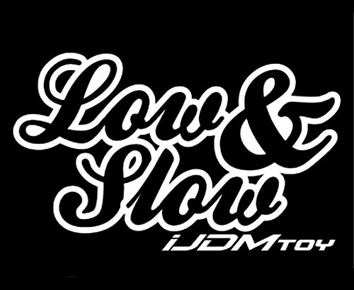 (iJDMTOY (1) JDM Cool Low & Slow Drift Racing Car Window Bumper Die-Cut Decal Vinyl Sticker)