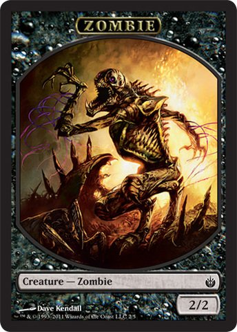 - Magic: the Gathering - Zombie Token - Mirrodin Besieged