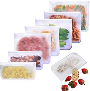 Translucent frosted PEVA food preservation bag, refrigerator food storage preservation bag, self-sealing food bag