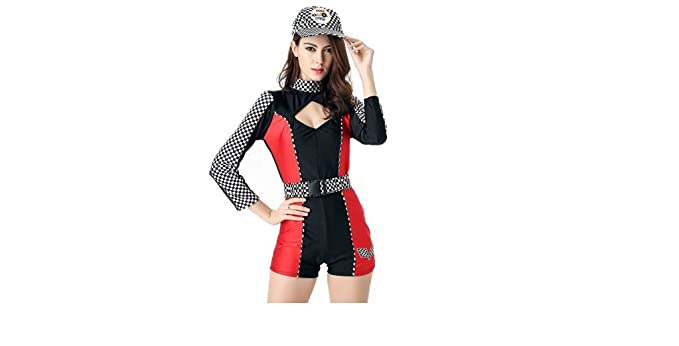 Buy Cheap High Quality Racing Driver Auto Salon Girls Costume Sexy Shorts Design Uniform Car Club Wear Suit Stage Party Racing Jumpsuit Costumes & Accessories