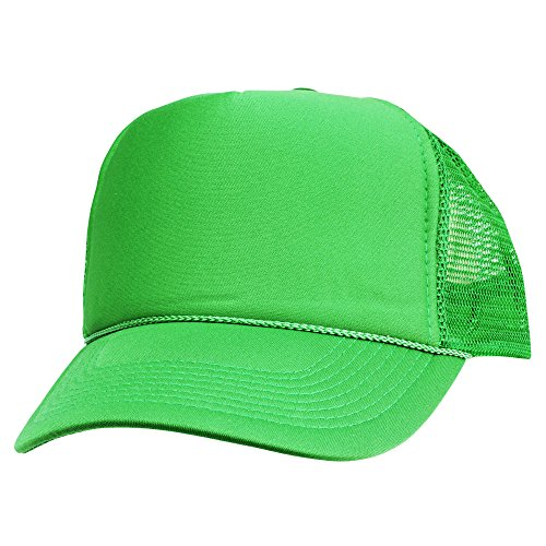 Frog Trucker Hat - DALIX Blank Hat Summer Mesh Cap in Kelly Trucker Hat