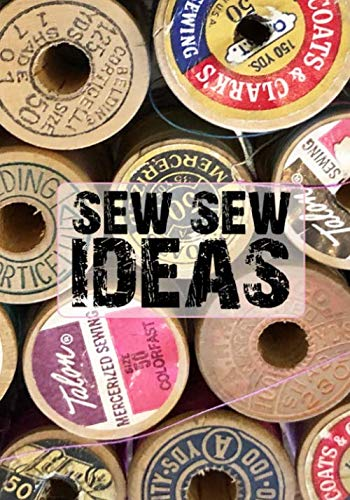 SEW SEW IDEAS: 7x10 Grid Paper Notebook Vintage Thread Spools