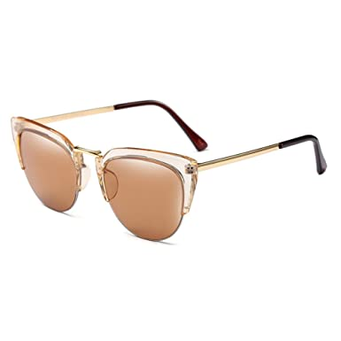 a94919bd8ccb Women Men Vintage Retro Cat Eye Sunglasses Half Frame Glasses C1   Amazon.co.uk  Clothing