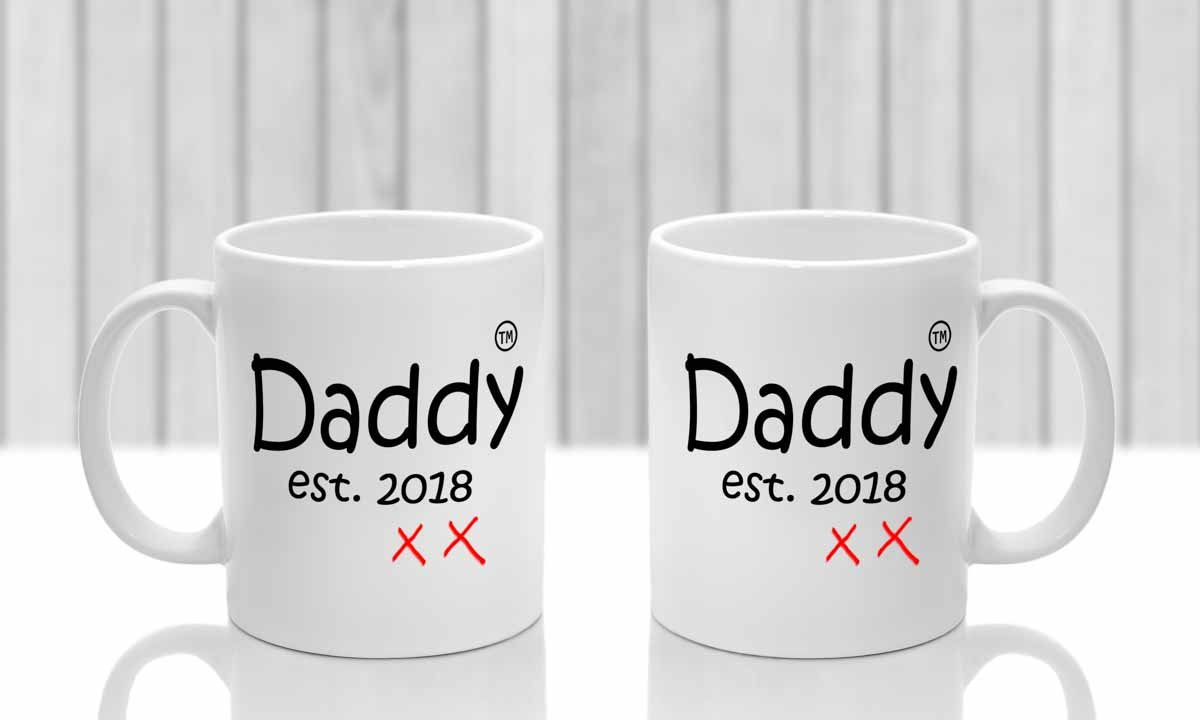 New Mum new Dad mugs. Set of two cups. Gift for new parents with ...