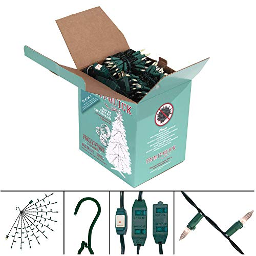 Trim Crossover (Trim-It-Quick Complete Tree Lighting Kit 6' - 7.5' Tree, LED, 9 Custom Multi-Strand Light Sets, 650 Lights, Multi-Outlet Extension Cord, Ideal for Christmas, Home, Indoor/Outdoor (Warm White))