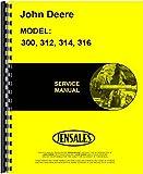 John Deere 300 312 314 316 Lawn & Garden Tractor Service Manual (JD-S-SM2104)