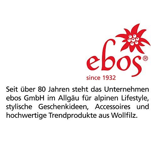 Ebos Borsa cameriere fatto 100% feltro di lana naturale, grigio