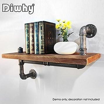 Diwhy rústico Industrial DIY Tubo Estante de Almacenamiento estantes  estantería de Pared Vintage  Amazon.es  Hogar 94c8fbfe97e6