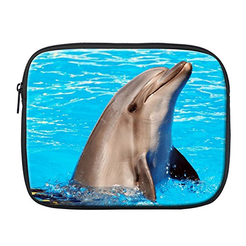 Briefcase Dolphin - Instantarts Cute Dolphin Blue Briefcase Bag for Ipad Tablet Sleeve Pouch Case for 9.7 inch Computer
