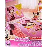 Disney Minnie Mouse 4 Piece Toddler Bedding Set