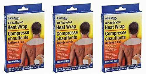 - Air Activated Heat Wraps, Neck, Wrist, & Shoulder Pain Therapy, 3-ct Set