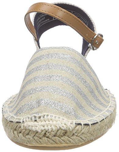Supremo Damenschuhe - Sandalias de tobillo Mujer Plateado - plateado (plateado)