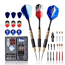 WINMAX Darts Set Soft & Steel tips Darts Brass Barrel 18 - 21 Grams Nice Packing Gift Box