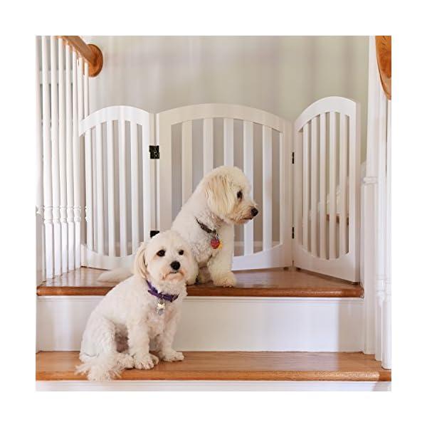 Arf Pets Free Standing Wood Dog Gate