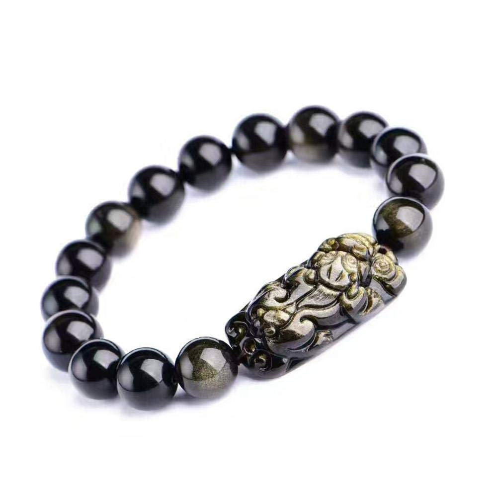 Zicue Stylish Charming Bracelet Exquisite Ornaments Natural Jin Shi Pixiu bracelet men and women gifts ( Size   10mm )