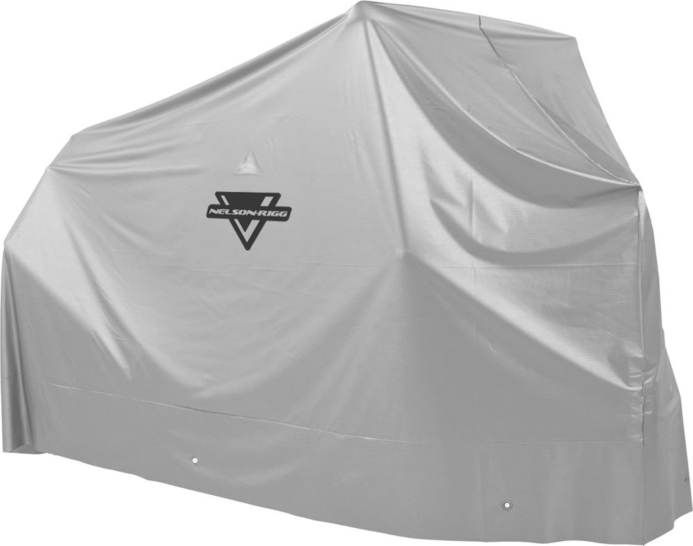 Nelson-Rigg Econo Motorcycle Cover, All Weather Protection, 100% Waterproof, UV, Air Vents, Grommets, Large Fits most Sportbikes and Cruiser motorcycles
