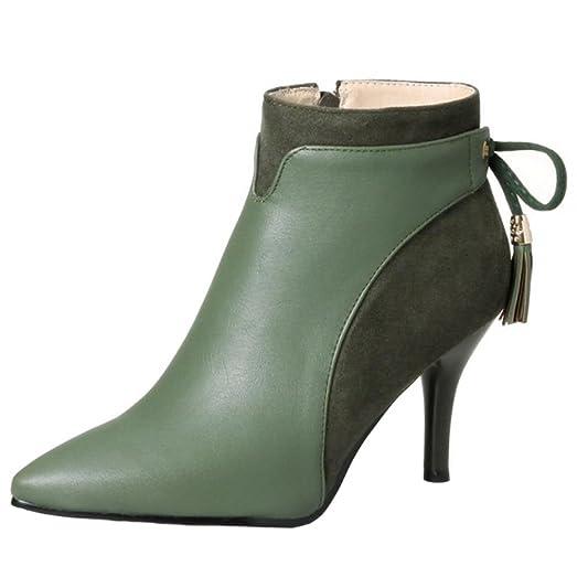 TAOFEN Ladies Stylish Dress Boots Zipper