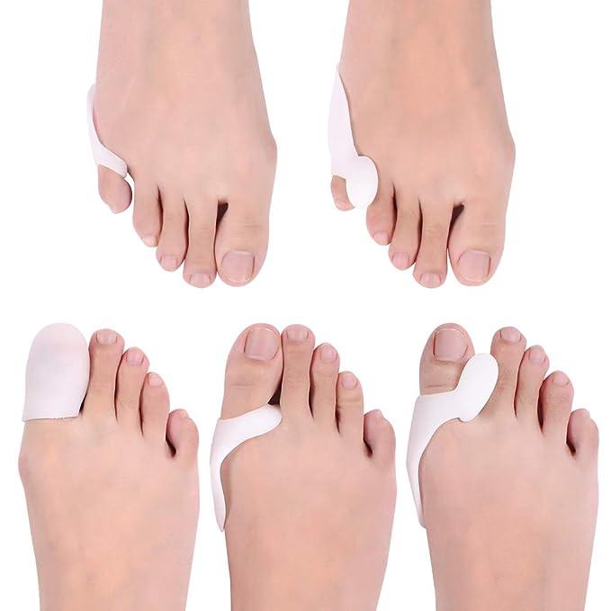 2pcs Silicone Corrector Relief Gel Toe Separator Hammer Pad Toe/&Forefoot E1E6