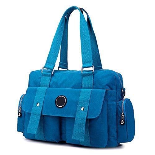 Frauen Jahrgang Leinwand Schulter Aktentasche Messenger Handtasche Seite Geschäft Tasche ,E-OneSize