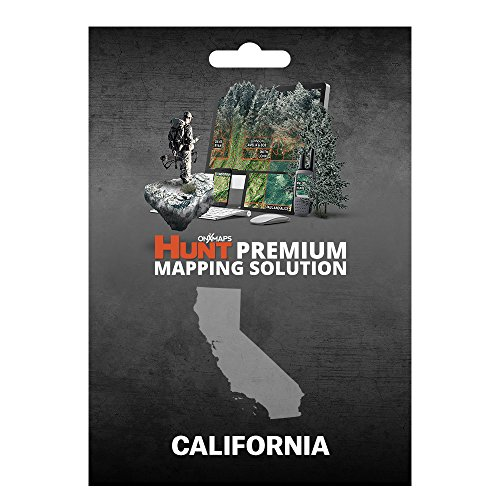 onXmaps HUNT California: Digital Hunting Map For Garmin GPS + Premium Membership For Smartphone and Computer Color Coded Land Ownership 24k Topo Hunting Specific Data